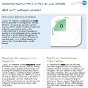 Understanding What Drives D Customers